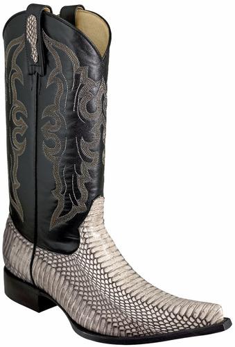 bota vaquera piel de cobra original