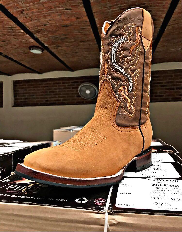 75131776d Bota Vaquera Tipo Rodeo Para Caballero -   980.00 en Mercado Libre