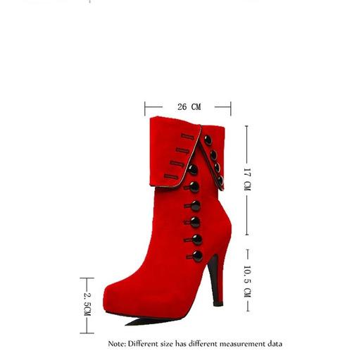 bota vermelha camurça