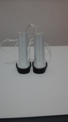 bota verniz branca blythe/pullip/bjd