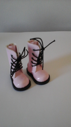 bota verniz rosa blythe/pullip/bjd
