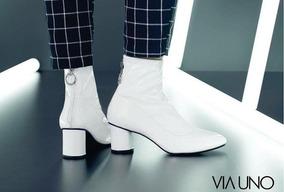 faa2fd460 Via Uno Bota - Calçados, Roupas e Bolsas Branco com o Melhores ...