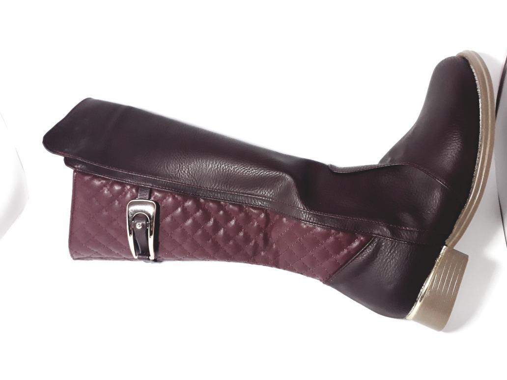 735d13c91fa0b bota vino rojo tubo alto con herraje dama otoño invierno. Cargando zoom.