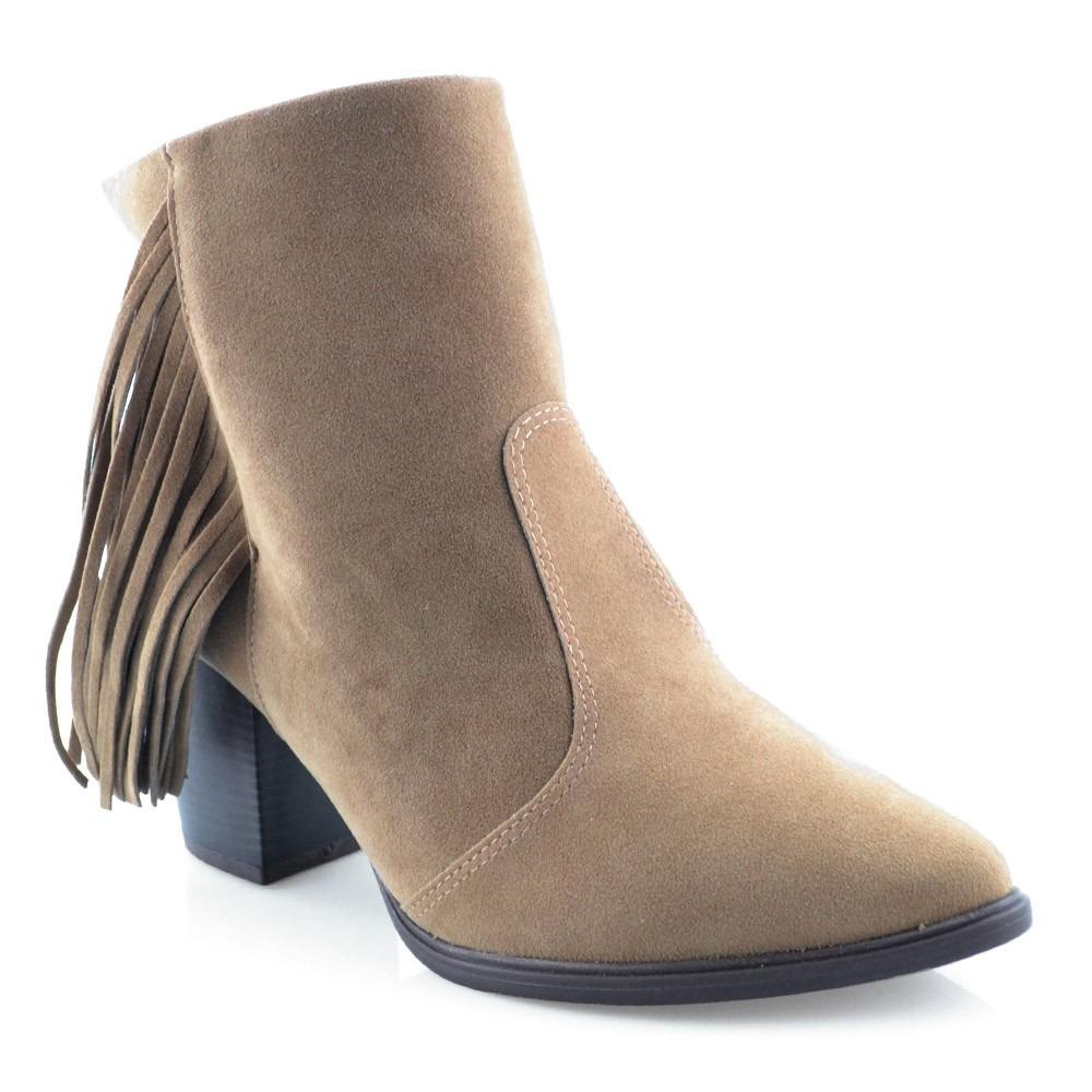 5a0da6bd80 bota vizzano bico fino cano baixo com franjas 3048101. Carregando zoom.