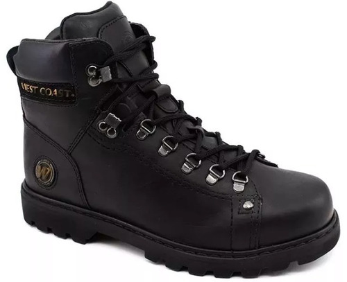bota west coast coturno worker masculina - 579016105 - preta