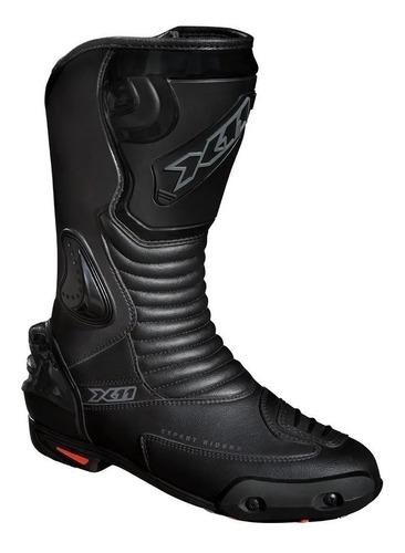 bota x11 couro anti-torção preta