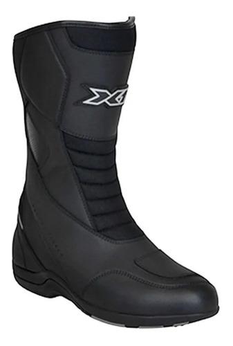 bota x11 motociclista couro anti-torção preta