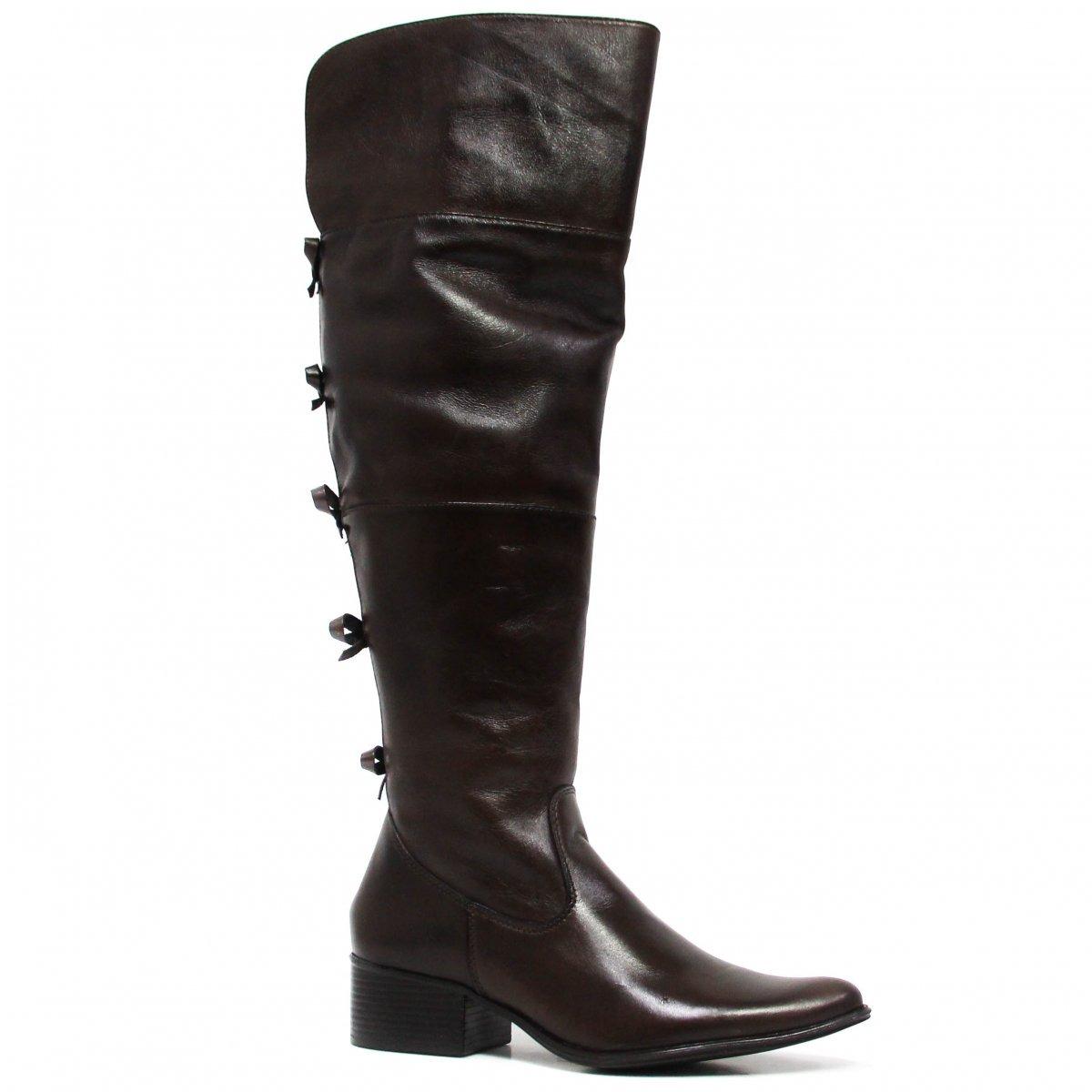 6ccc28cf456 Bota Zariff Shoes Montaria Em Couro Laço