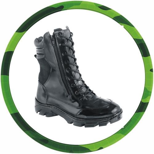 bota zíper adventure, militar, jipe em couro 100% legitimo.