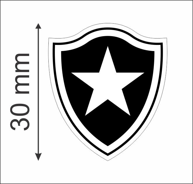 Botafogo Fluminense Flamengo Vasco 63 Adesivos 3cm Laser - R  19 dad409c5522fe