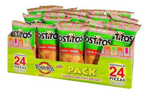 botana sabritas tostitos salsa verde 24 pza con 65 g