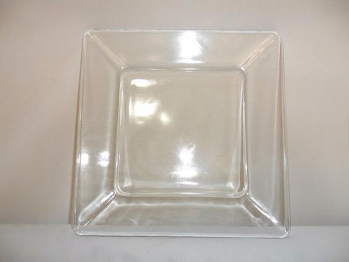 botaneros,dulceros cuadrados de vidrio de 25 x25 cm