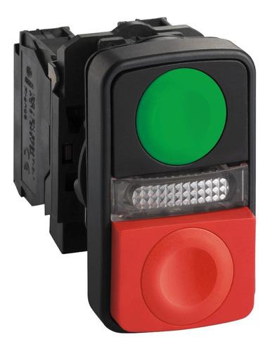 botao 22mm plastico duplo comando sinalizador 240v 1na 1nf;