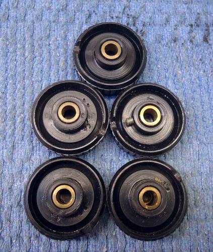 botao - knobs - para radio antigo - lote com 05 pecas novas