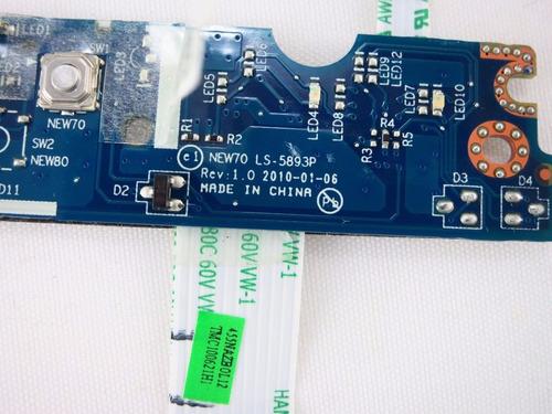 botao power notebook acer aspire 5741 ls-5893p