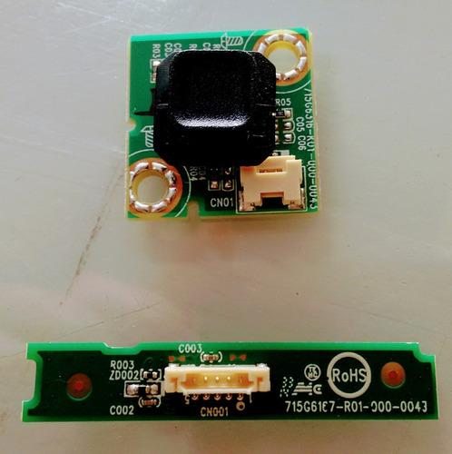 botao power, sensor controle remoto philips 40pfg5109/78
