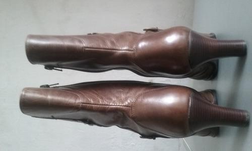 botas #38 para dama en puro cuero hushpuppies original
