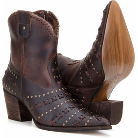 6bdc26ce2e1df Cano Alto West Country Bota Texana Feminina Bico Fino C - Sapatos no ...