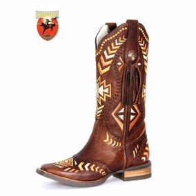 1ee08779e7b46 Bota Feminina Texana Goyazes Dallas - Tabaco 163249-cef