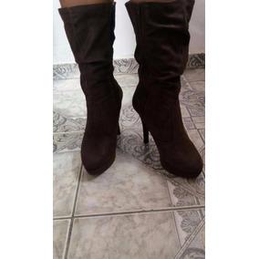b7f138503a Bota Vizzano Cano Longo Marrom - Sapatos no Mercado Livre Brasil