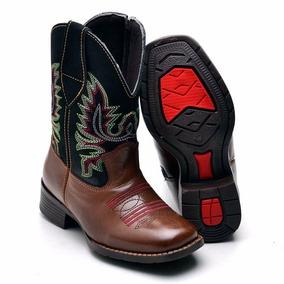 08e281bb2a9dc Bota Infantil Country Masculina Texana Western Em Couro