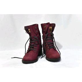 8539ecbd57adb Coturno Feminino Cravo Canela Vermelho Botas - Calçados