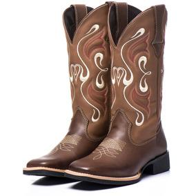 944b2ea9f2 Texana Feminina Bico Quadrado Marrom - Sapatos no Mercado Livre Brasil