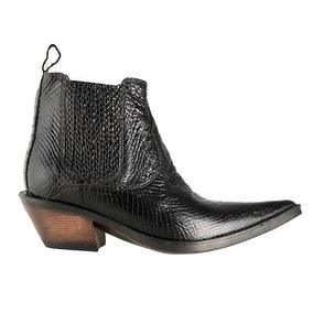 24a5ba77b643b Bota Texana Hb Agabe Boots 101.004 - Anv Preto - Solado De B