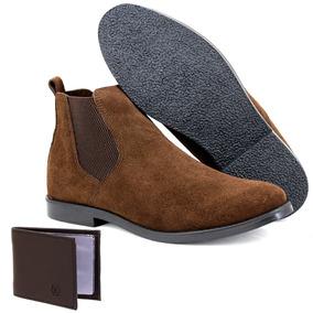 437ce69ca1 Bota Samello Camurça Masculina Marrom Sapatos - Sapatos no Mercado ...