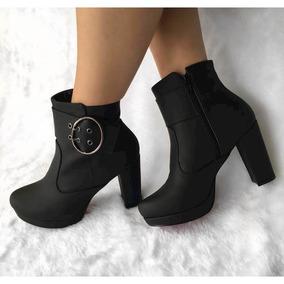 dbbbeabf6 Ankle Boot Cano Curto Com Fivela Satinato - Ref 1290361