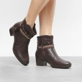 ee0fb6d44 Bota Mooncity Cano Baixo Tiras - Sapatos para Feminino no Mercado ...