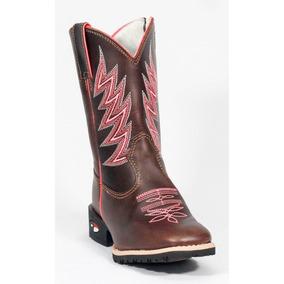 447fd05d93d56 Bota Infantil Made In Texas B-79 3003 Pink Pull Up Brown - F