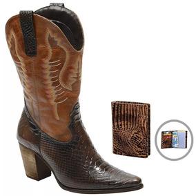bcec1f2a2cb Bota Texana Salto Alto Feminino Botas Sapatos - Botas no Mercado ...