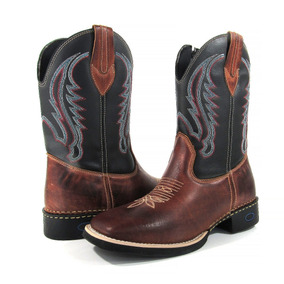 1d24ee8f2de7a Bota Country Masculina Cano Longo Texana Couro Leather West