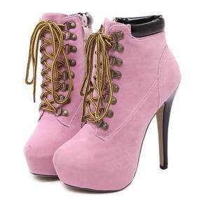 151dfcf3b Ankle Boot Importada Rosa - Sapatos Rosa claro no Mercado Livre Brasil