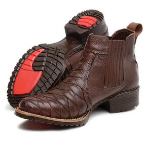 8c3a3f651 Botina Zelão Com Palmilha Em Gel Masculino Botas - Sapatos Marrom no ...