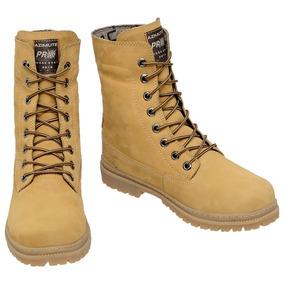 028606f926 Azimute 625 Feminino Botas - Sapatos Ocre no Mercado Livre Brasil