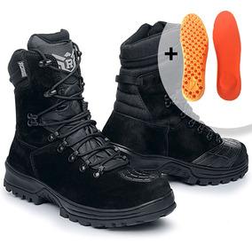 df18e37604 Bota Militar Coturno Profissional Couro + Palmilha Extra por Rafale Calçados