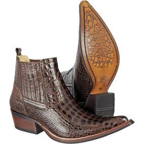 1153718af15bf Bota Country Masculina Texana Couro Exótic Crocodilo 2 Cores