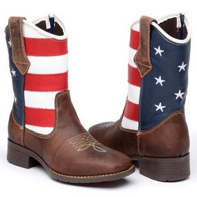 21c999b883b Bota Infantil Masculina Texana Couro Legítimo Usa Americana