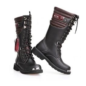 6ee75fe036 Bota Coturno Preto Vintage Importado Fashion Rock - Sapatos no ...