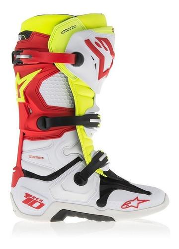 botas alpinestars tech 10 moto cross articulada c botitas bl