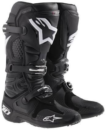botas alpinestars tech 10 negras motocross enduro talla 9