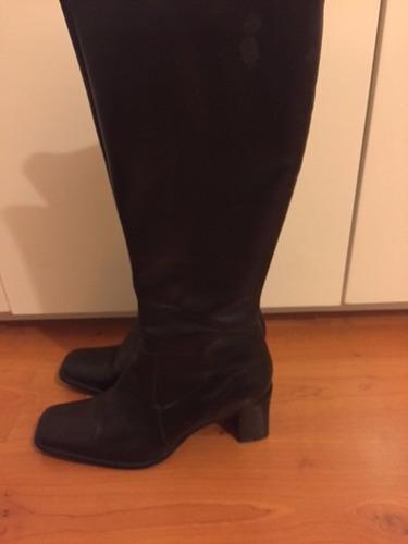 botas alta cuero mujer talle 25 seminuevas