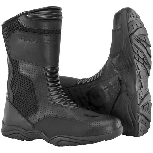 botas altas firstgear mesh negras 12