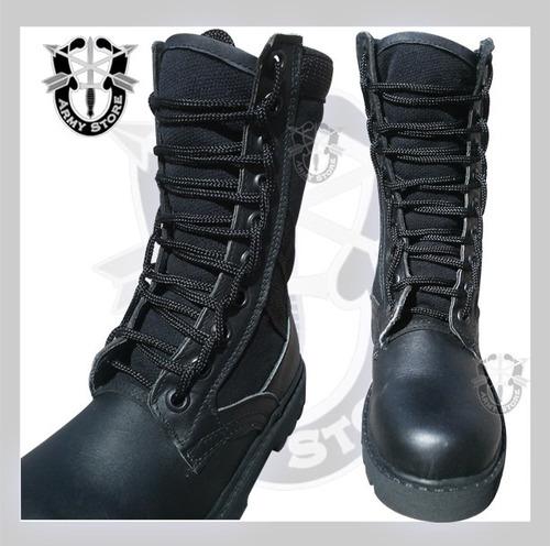 botas altas lona y piel armystore puebla