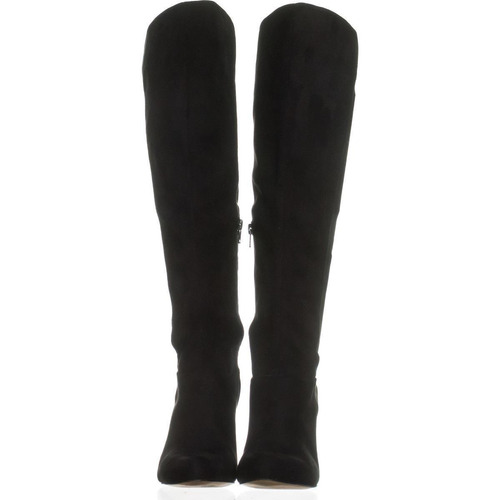 botas altas negras suede inc international concepts