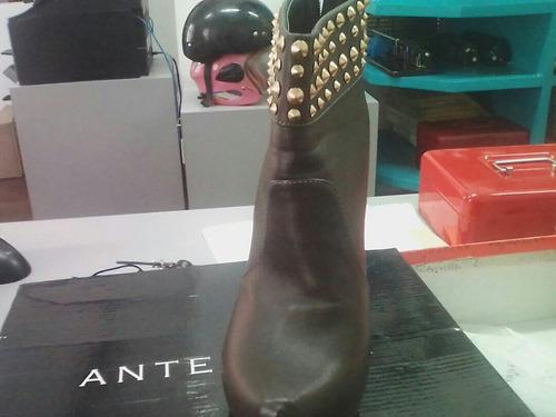 botas anteprima color marrón talla 38