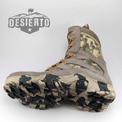 botas arena pixeladas , bota militar