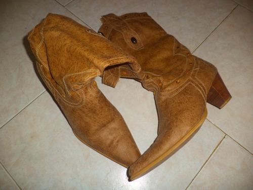 botas bardo originales cuero dama 38